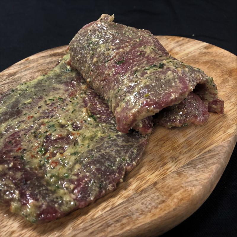 'Knoflook' runderschnitzel