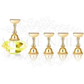 Magnetic Nail Art Tip Display Yellow Gold