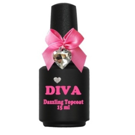 Diva UV Dazzling Topcoat zonder plaklaag 15 ml