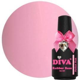 Diva Gellak Rubber Base Coat Perfect Pink 15 ml