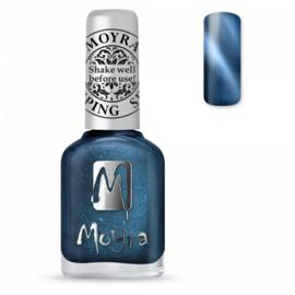 Moyra Stamping Nail Polish Cat Eye Magnetic Blue 12ml sp33