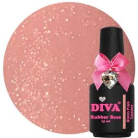 Diva Gellak Rubber Basecoat Blush Pink Luxury 15 ml