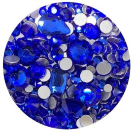 Diva Crystal Mix Blue different shapes