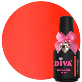 Diva Gellak Coral Orange 15 ml