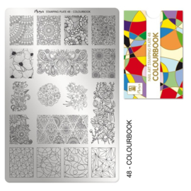 Moyra Stamping Plaat 48 Colour Book
