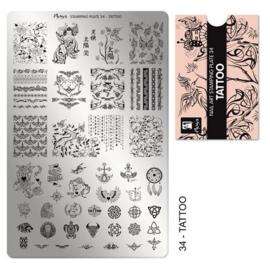 Moyra Stamping Plaat 34 Tattoo