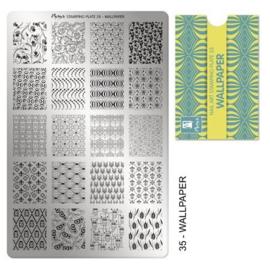 Moyra Stamping Plaat 35 Walpaper