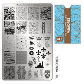 Moyra Stamping Plaat 16 Memories