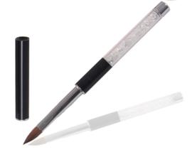 Acrylpenseel Black Crystal Rhinestones Nr. 10