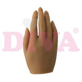Siliconen hand rechts met standaard - Ivory