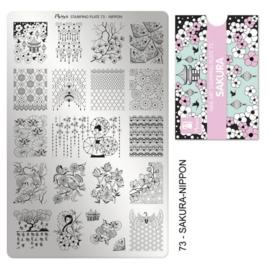 Moyra Stamping Plaat 73 Sakura – Nippon