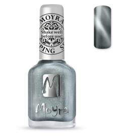 Moyra Stamping Nail Polish Cat Eye Magnetic Silver 12ml sp30