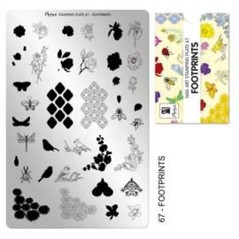 Moyra Stamping Plaat 67 Footprints