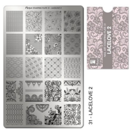 Moyra Stamping Plaat 31 LaceLove2