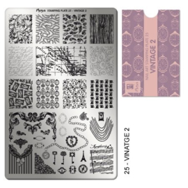 Moyra Stamping Plaat 25 Vintage 2