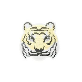 Strijkapplicatie omkeerbare pailletten tijger