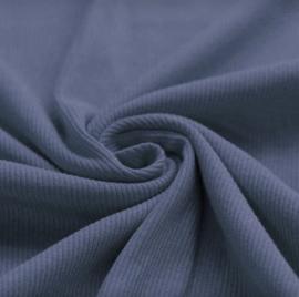 Ribtricot jeansblauw