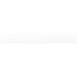 Rekbaar biaisband tricot 15mm wit