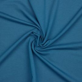 Organisch french terry jeansblauw uni