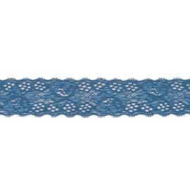 Rekbaar kant jeansblauw