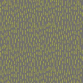 French terry grijs met groene hagelslag