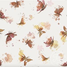 Family Fabrics - Butterflies Lycra Sportswear Eco