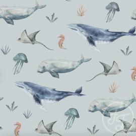 Family Fabrics - Deep Sea Life Poly Swimwear