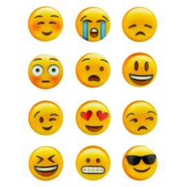 Zakje knopen 15mm emoji's