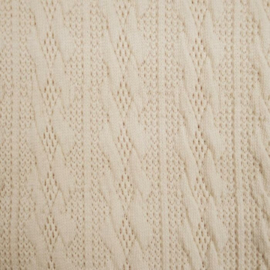 Jacquard knitted cable klein ecru
