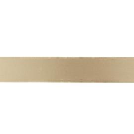 Satijnlint 25mm taupe