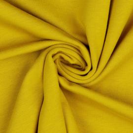 Organisch tricot okergeel uni