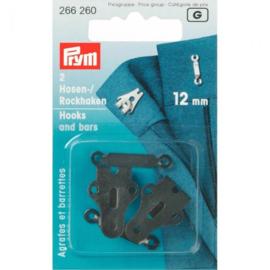 Prym broek- en rokhaken 12mm zwart