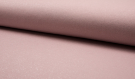 French terry brushed oud-roze met glitter
