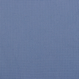 Wafelstof blauw