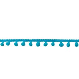 Bolletjesband aqua klein