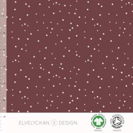 Elvelyckan - Ribbed Knit - Spots - Wine