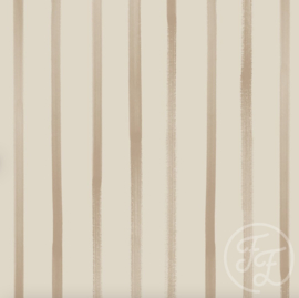 Family Fabrics - Stripes Grey Jersey