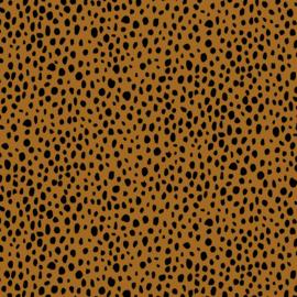 French terry cheetah oker
