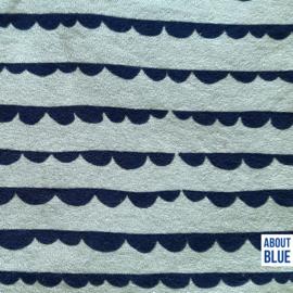 About Blue - Sea You - Rekbare badstof Dotty Stripes