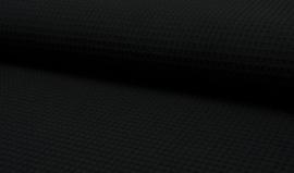 Wafelstof zwart