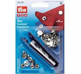 Prym drukknopen mini 8mm zilver gesloten