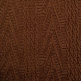 Jacquard knitted cable groot lichtbruin