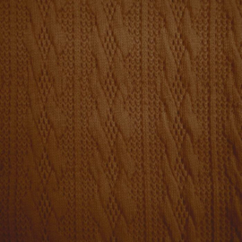 Jacquard knitted cable klein lichtbruin