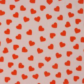 Nicky velours hearts of love lichtroze