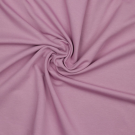 Organisch french terry lavendel uni