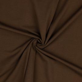 Organisch tricot bruin uni