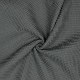 Wafelstof grijs