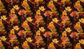Viscose herfstbloemen pompoen