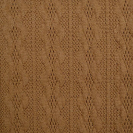 Jacquard knitted cable klein camel
