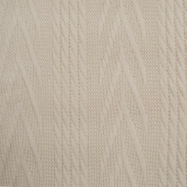 Jacquard knitted cable groot ecru